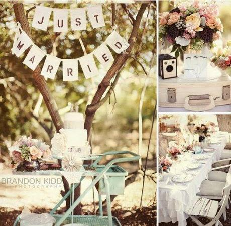 Shabby chic vintage wedding theme