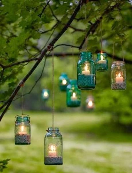 Vintage hanging candles