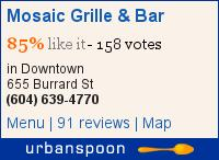 Mosaic Grille & Bar on Urbanspoon