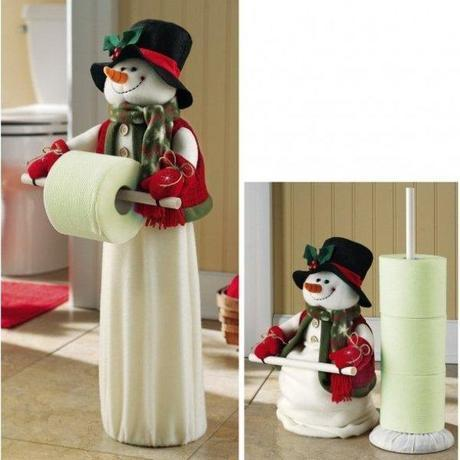 Snowman Toilet Paper Holder