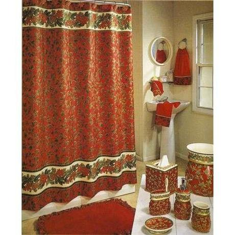 Holiday bathroom decor sets