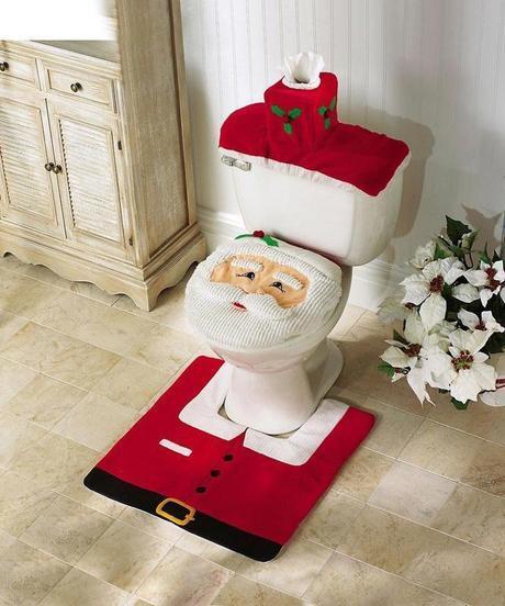 Santa Claus Toilet Set.