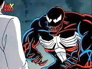Venom as he appears in Spider-Man: The Animate...