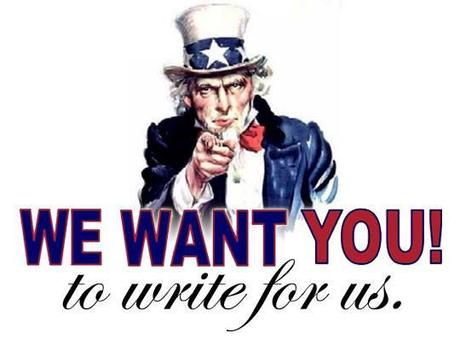 We want writers for our blog