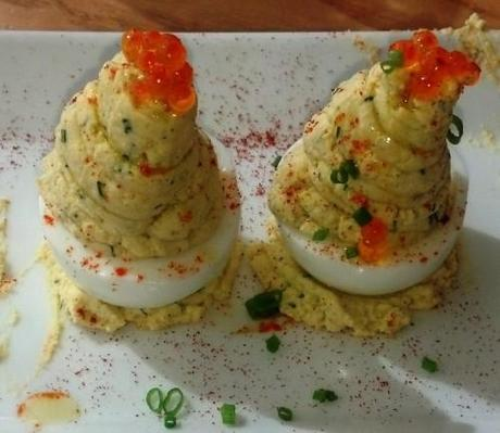 Deviled Eggs with Smoked Trout Roe - Paperblog