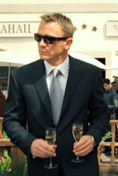 Casino Royale Bond S Dark Blue Suit And New Aston Martin