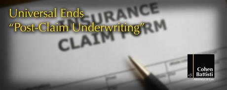 Universal Property And Casualty Insurance Company Claim