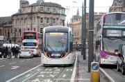 Edinburgh trams being tested on Princes Street