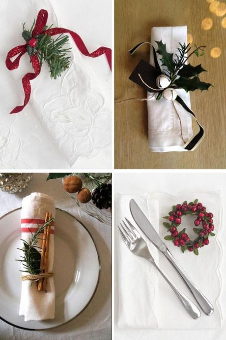 Christmas serviette decor