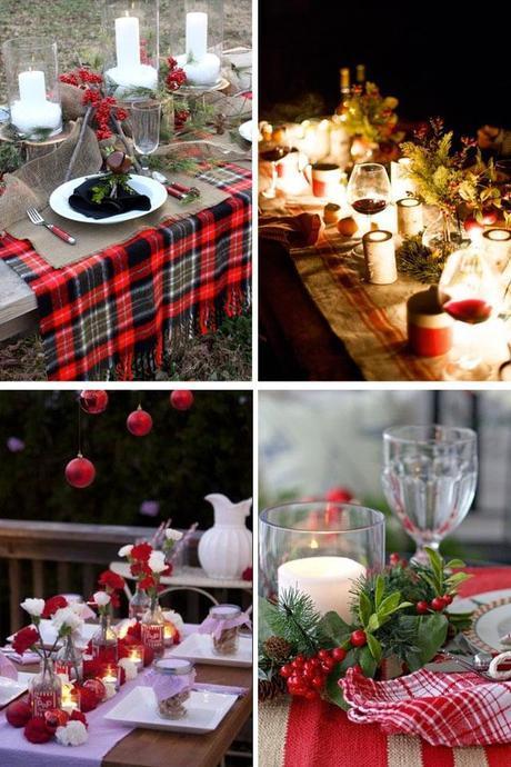 Christmas outdoor table decor