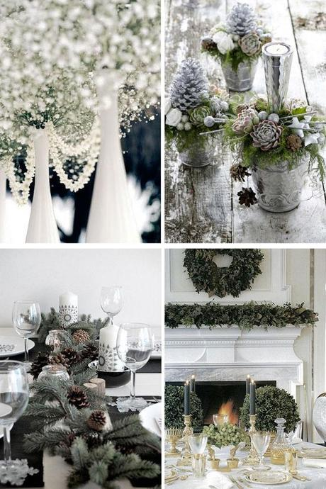 Christmas table decor elegant