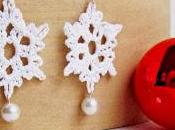 Free Crochet Pattern: Snowflake Earrings with Pearl Accent Tutorial