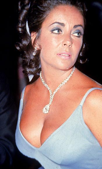 The Taylor Burton Diamond worn by Elizabeth in 1969