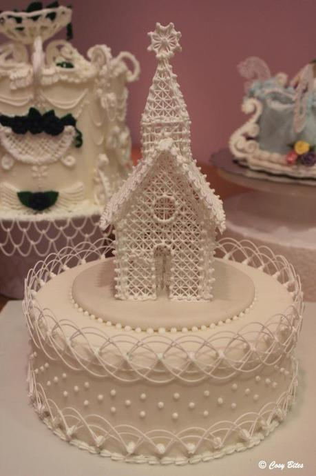 Royal Icing Church and Oriental String Work-Completed Cake1