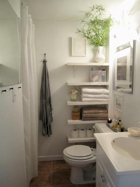 Make your tiny bathroom gorgeous AND functional!