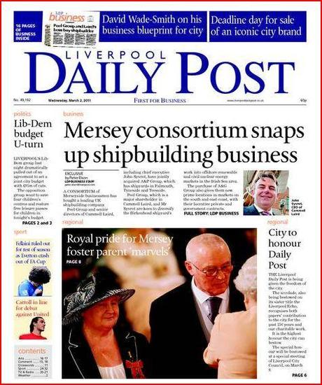 On The Last Day Of The Liverpool Daily Post Paperblog