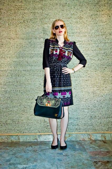 Chic Printed Dress By Ritu Kumar