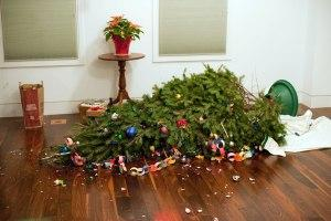 Image result for ruined christmas tree