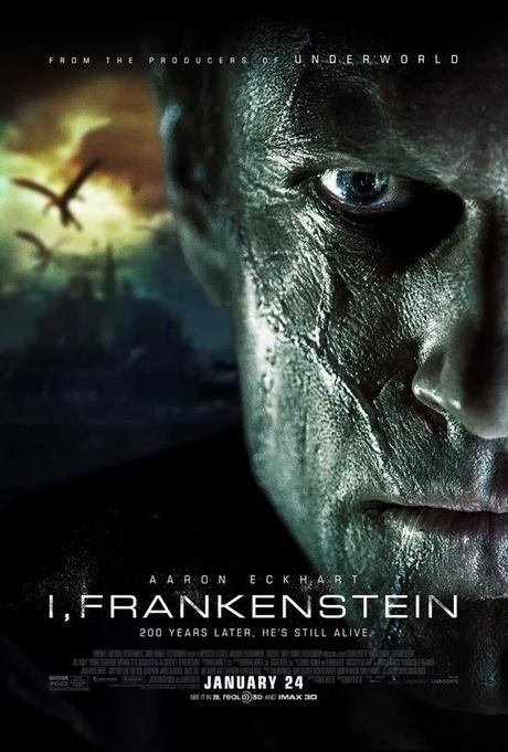 New Poster for 'I, Frankenstein' Shows a Close-up of the Monster