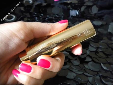 Oriflame MORE by Demi Lipstick: Pink Drama (Review n Swatches)