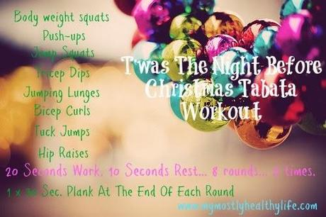 {I Workout} T'was The Night Before Christmas Tabata Workout