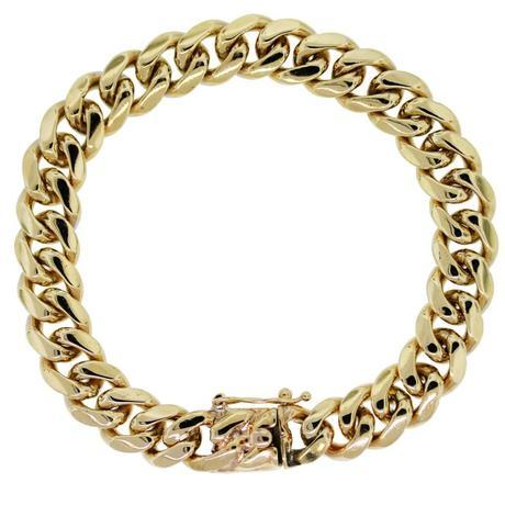 Bold Gold Cuban Chain bracelet