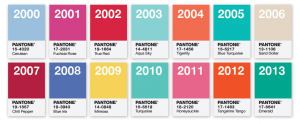 color marketing of the year from Pantone PMS colors