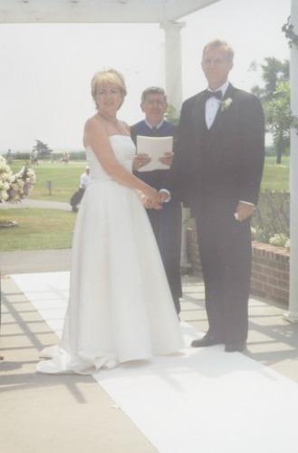 wedding picture, outdoor wedding ceremony