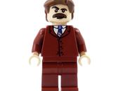 Burgundy Lego Minifigure