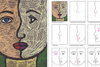 How to Draw a Cubism Portrait  Paperblog