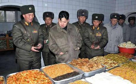 kim jong un looking at food