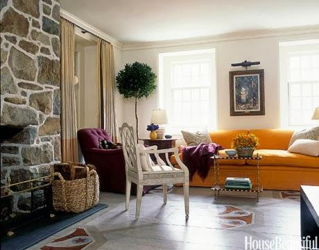 2014 Color Trends For The Home Lush Purple Blues And Oranges Paperblog