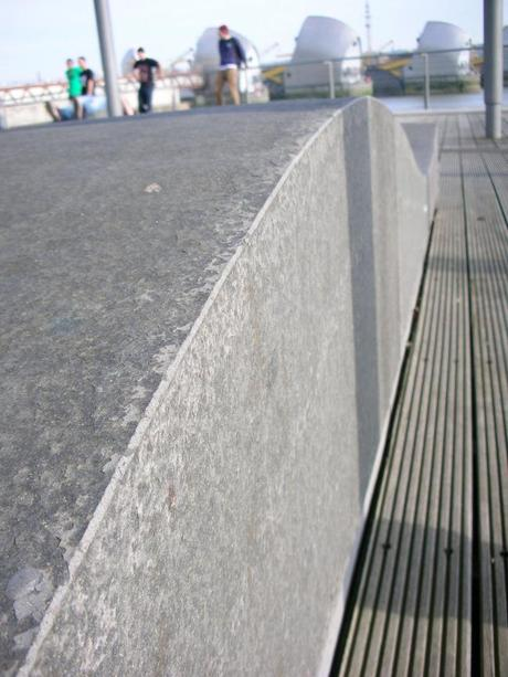 Thames Barrier Park, London - Undulating Bench