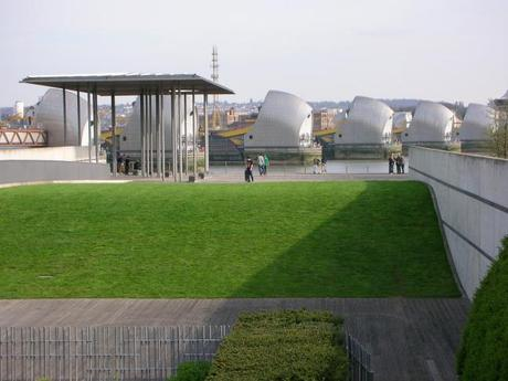 Thames Barrier Park, London - Inclined Lawn