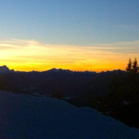 The sunset at Lenggries Hütte was the reward for our hiking!