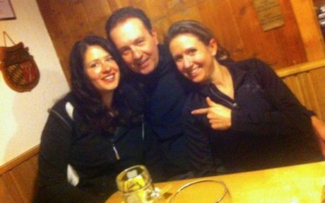 Me, my husband and friend celebrating NYE in a mountain hut.