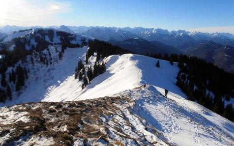 View from the Seekarkreuz Peak, above Lenggries Hütte