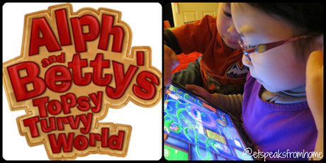 Review: Alph and Betty's Topsy Turvy World App