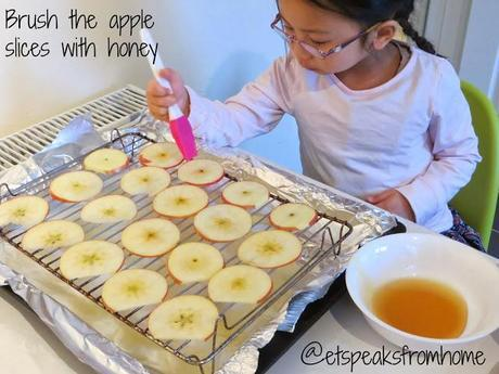 How to make Honey Dried Pink Lady Apple Crisps