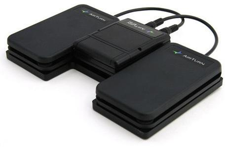 The Airturn BT-105 wireless pedal board