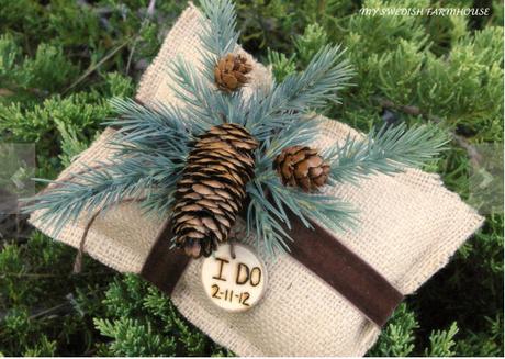 Rustic Ring bearer cushion