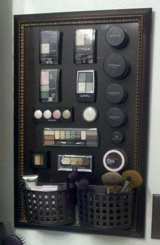 Magnetic Makeup Board Bathroom Hack. The Top 5 Hacks for Better Bathroom Organization   Paperblog