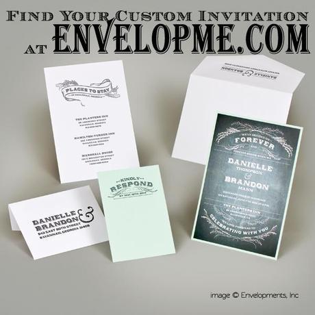 Envelopme.com, envelopme.com university, chalkboard invitation, chalkboard invitation suite, belluccia flourishes, belluccia font,  hand lettered font Wedding invitation suite,  Debi Sementelli, Lettering Art Studio