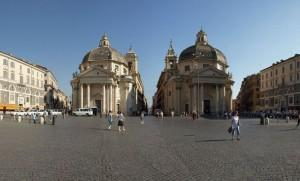 The Twin Churches that open the tridente at Piazza del Popolo