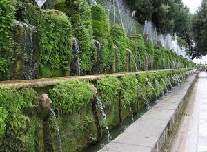 One hundred fountains at Villa d'Este