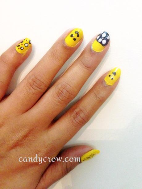 Nail Art With Yellow Nail Polish Paperblog