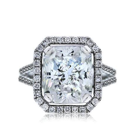 18k White Gold 5.04ct Radiant Cut GIA Certified Engagement Ring