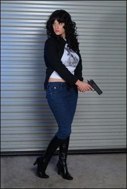 Abby Dark Star as Anita Blake, Vampire Hunter (Photo by Jimmy Duggan)