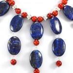 photo rose lapis necklace