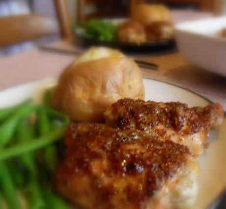 Maple & Mustard Glazed Chicken Thighs